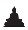 Buddha Silhouettes on the white background vector image vector image