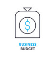 business budget concept outline icon linear vector image vector image