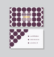 business card background vector image vector image