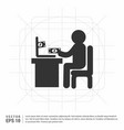 business man working vector image