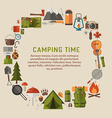 Camping and Hiking Lifestyle Background vector image