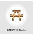 Camping table Flat Icon vector image vector image