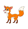 cartoon fox animal isolated on white background vector image