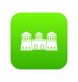 castle icon green vector image vector image