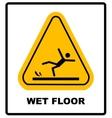 Caution wet floor vector image vector image