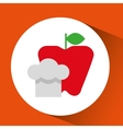 cheerful chef fresh apple graphic vector image vector image