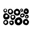 circle black paint brush strokes collection vector image vector image