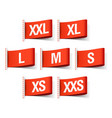 Clothing tags with sizes vector image vector image