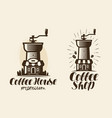 coffee espresso logo or label element for design vector image vector image