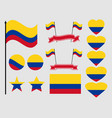 Colombia flag set collection of symbols flag