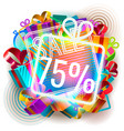 colorful sale announcement vector image vector image
