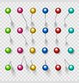 colorful thumbtacks or pushpins vector image vector image