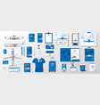 corporate realistic template airplane elements vector image