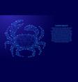 crab animal sea seafood from futuristic polygonal vector image