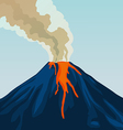 Crater mountain volcano hot natural eruption Smoke vector image vector image