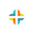 cross shape abstract technology logo vector image vector image