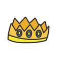 crown royalty gems luxury monarch icon vector image