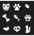 Cute cat icons set vector image vector image