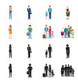 design of character and avatar symbol set vector image vector image
