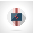 Electrical heating round flat design icon vector image vector image
