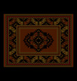 ethnic luxury carpet with vintage ornament vector image vector image