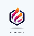 flame logo and icon design tem vector image vector image