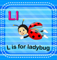 flashcard letter l is for ladybug vector image