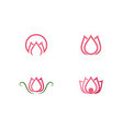 flowers logo template vector image