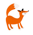 fox cartoon forest animal icon vector image