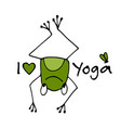 funny yoga frog sketch for your design vector image vector image