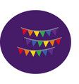 garlands hanging with gay pride colors block style vector image vector image