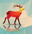 Geometric polygonal deer pattern design vector image
