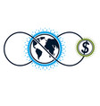 global business creative logo unique symbol vector image vector image