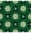 Green flowers abstract vintage background vector image vector image