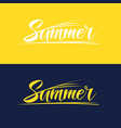 hand drawn lettering summer vector image