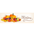 Happy Thanksgiving banner with autumn vegetables vector image vector image