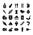 healthy food pack glyph icons