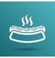 hotdog logo icon food symbol fastfood grill vector image