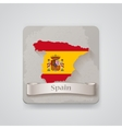 Icon of Spain map with flag vector image vector image