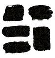 ink brush strokes set vector image
