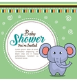 invitation baby shower card with elephant desing vector image vector image
