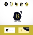 Letter B logo icons set vector image vector image