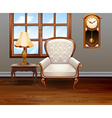 Living room with luxury chair and furniture vector image