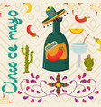 mexican theme of cinco de mayo celebration in vector image