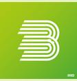 modern professional logo monograma b in green vector image vector image