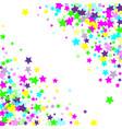 multicolored falling stars of confetti vector image