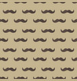 mustache seamless patterns father s day holiday vector image vector image