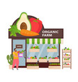 organic farm shop vector image