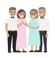 parents-in-law flat vector image vector image