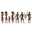 people from africa men and women vector image